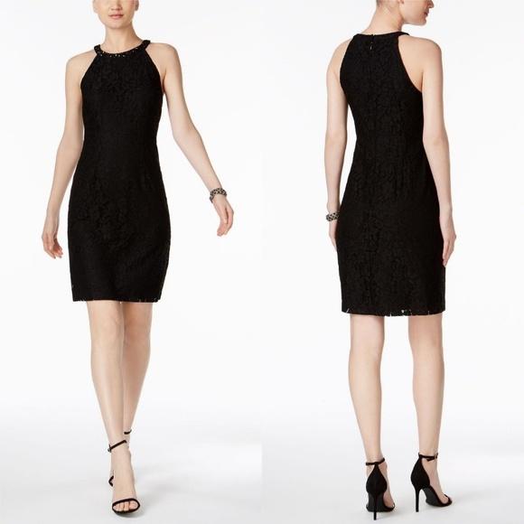 Nine West Dresses & Skirts - NEW Nine West Black Embellished Jeweled Lace Dress